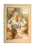 The Holy Family with St. Anne, Attended by Angels and Cherubim Giclee Print by  Pietro da Pietri