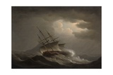 A Frigate Heeling in an Offshore Gale Giclee Print by Nicholas Pocock
