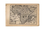 Map of Africa from 'A Prospect of the Most Famous Parts of the World' by Speed, Van Den Keere and… Giclee Print by Pieter van den Keere
