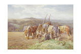 Resting in the Field Giclee Print by Charles James Adams