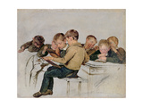 School Examination Giclee Print by Sir George Harvey