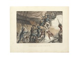 British Sailors Boarding a Man of War, Illustration from 'Historic, Military and Naval… Giclee Print by John Augustus Atkinson