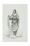 Inuit Womanr Giclee Print by Edward Adams