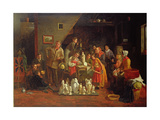 Italian Image - Boys at a Roadside Alehouse, 1849 Giclee Print by James Collinson