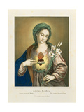 The Sacred Heart of Mary, Published by Fr. Wentzel, Weissenburg, 1850 Giclee Print by German School