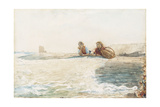 The Breakwater, 1883 Giclee Print by Winslow Homer