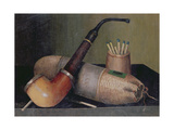 Still Life with Pipe Giclee Print by William Michael Harnett