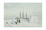 Hms Enterprise in Winter Quarters, Camden Bay, North Coast of America, C.1850-55 Giclee Print by Edward Adams