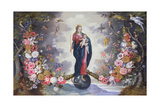 The Virgin and Child Surrounded by a Garland Giclee Print by  Jan Brueghel and Hendrik van Balen
