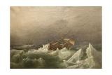 Hms Erebus and Terror, Gale in the Pack, 20 Jan 1842, 1863 Reproduction procédé giclée par Richard Bridges Beechey