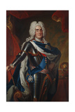 Portrait of Augustus II the Strong as King of Poland, 1725-30 Giclee Print by Louis de Silvestre