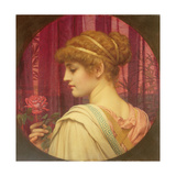 Girl with Red Rose Giclee Print by John William Godward