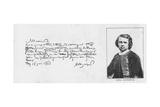 Handwriting and Signature of Rosa Bonheur, 18 June, 1863 Giclee Print by Rosa Bonheur