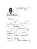 1st Page of Autograph Letter to Frederick Evans, C.1893 Giclee Print by Aubrey Beardsley