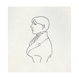 Portrait of the Artist in Outline Giclee Print by Aubrey Beardsley