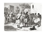 The Slave Market in Zanzibar, Tanzania, East Africa, Illustration from 'The World in the Hands',… Giclee Print by Emile Antoine Bayard
