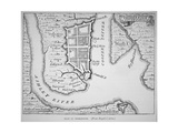 New France: the Course of the St Lawrence River as Far as Quebec Giclee Print