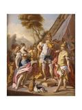 Sisygambis, the Mother of Darius, Mistaking Hephaestion for Alexander the Great Giclee Print by Francesco de Mura