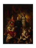 The Apotheosis of Prince Bismarck, 1890 Giclee Print by Ludwig Rudow