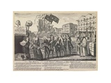 The Repeal, or the Funeral Procession of Miss Americ-Stamp, London, 1766 Giclee Print by Benjamin Wilson