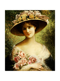The Fancy Bonnet Giclée-Druck von Emile Vernon