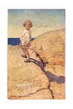 Child and their Shadow, from 'A Child's Garden of Verses' by Robert Louis Stevenson, Published 1885 Giclee Print by Jessie Willcox-Smith