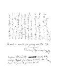 2nd Page of Autograph Letter to Frederick Evans, C.1893 Giclee Print by Aubrey Beardsley