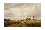 Use of the First Threshing Machine at Lankow, Schwerin, 1882 Giclee Print by Carl Malchin