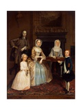 Mr and Mrs Richard Bull and Family, 1730-80 Giclee Print by Arthur Devis