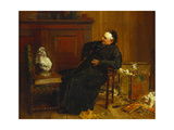 The Connoisseur, 1884-87 Gicléetryck av Walter Dendy Sadler