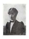 Sketch Portrait of the Artist Giclee Print by Aubrey Beardsley