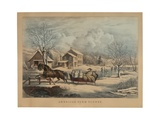 American Farm Scenes No. 4, Printed and Published by Nathaniel Currier (1813-88), 1853 Giclee Print by Frances Flora Bond Palmer