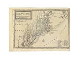Map of New England, New York, New Jersey and Pennsylvania, from 'The British Empire in America',… Giclee Print by Hermann Moll