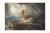 A Capriccio of a Roman Port During a Storm Giclee Print by Joseph Michael Gandy