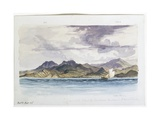 Coast of the Island of Sumbawa, Eastward of Mount Tamboin, 1856 Giclee Print by Thomas Baines