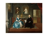 Reverend Streynsham Master and His Wife, Margaret of Croston, Lancashire, 1743-44 Giclee Print by Arthur Devis