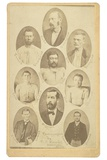 Composite Carte-De-Visite of Eight Members of the James-Younger Gang, with their Final Victim, 1876 Photographic Print by Elias Foster Everitt