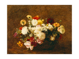 Bouquet of Flowers, 1894 Giclee Print by Ignace Henri Jean Fantin-Latour