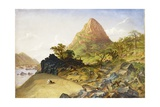 Mount Stephanie, Above Kabrabasam, Zambezi River, 1859 Giclee Print by Thomas Baines