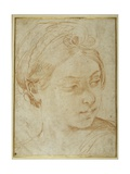 Young Woman's Head, Turned to Glance over Her Left Shoulder Giclee Print by Guido Reni
