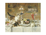 After Dinner Guests Giclee Print by Louis Eugene Lambert