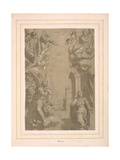 Annunciation Cartoon Giclee Print by  Palma Il Giovane
