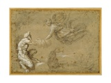 Pan Presenting the Wool to Diana Giclée-tryk af Annibale Carracci