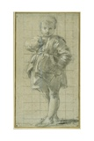 A Young Boy Standing Giclee Print by Bartolomeo Schedoni