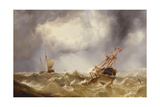Dismasted in a Storm Off the Kent Coast Giclee Print by Henry Redmore