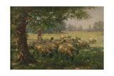 The Shepherdess Giclée-tryk af William Kay Blacklock