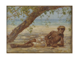 Samuel under a Tree, Jamaica Giclee Print by Henry Scott Tuke