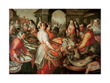 The Fish Market Giclee Print by Joachim Bueckelaer