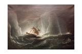 Hms Erebus and Terro, Escape from the Bergs, 13 March 1842, 1863 Reproduction procédé giclée par Richard Bridges Beechey