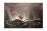 Hms Erebus and Terro, Escape from the Bergs, 13 March 1842, 1863 Giclee Print by Richard Bridges Beechey